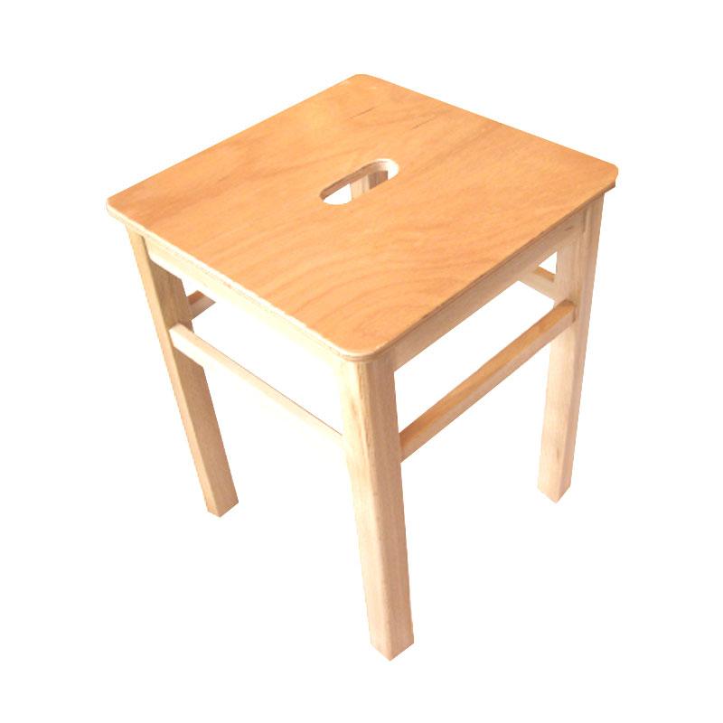 hocker holz 45cm hoch eckig mit griffschlitz gute qualit t. Black Bedroom Furniture Sets. Home Design Ideas